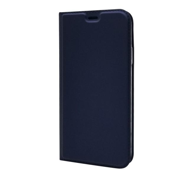 υποδοχή καρτών και μαγνητικό κούμπωμα Flip Wallet δερματίνη μπλε σκούρο