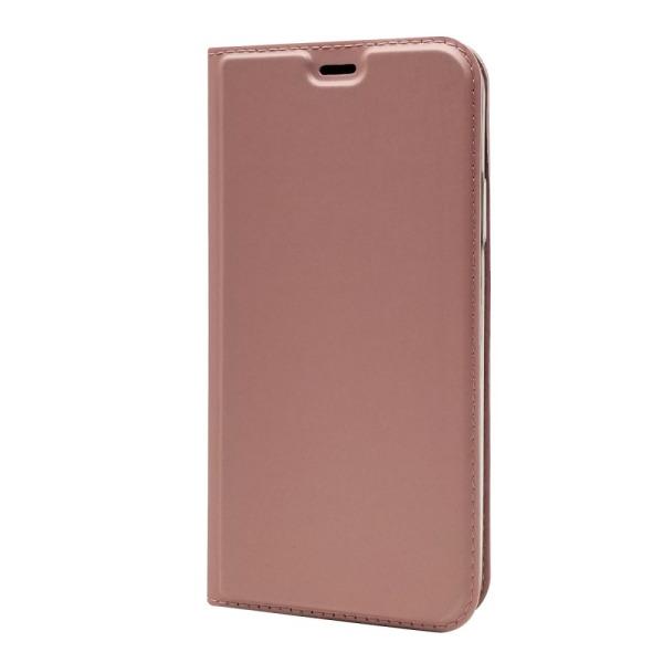 υποδοχή καρτών και μαγνητικό κούμπωμα Flip Wallet δερματίνη ροζ χρυσό