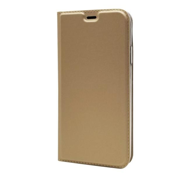 υποδοχή καρτών και μαγνητικό κούμπωμα Flip Wallet δερματίνη χρυσό