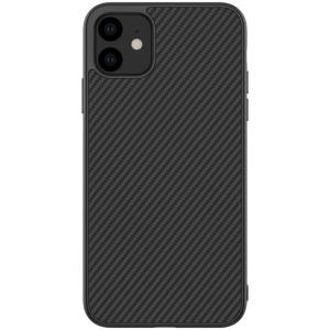Θήκη iPhone 11 NiLLkin Synthetic Fiber Series Πλάτη από σκληρό πλαστικό μαύρο