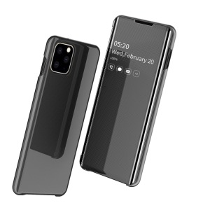Θήκη iPhone 11 Pro OEM Mirror Surface View v2 Stand Case Cover Flip Window δερματίνη μαύρο