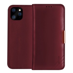 Θήκη iPhone 11 Pro Max DZGOGO Royale Series II Genuine Leather Flip Wallet δερμάτινη κόκκινο