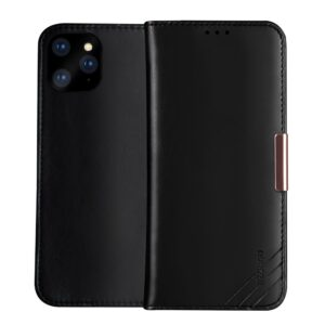 Θήκη iPhone 11 Pro Max DZGOGO Royale Series II Genuine Leather Flip Wallet δερμάτινη μαύρο
