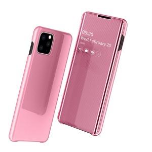 Θήκη iPhone 11 Pro Max OEM Mirror Surface View v2 Stand Case Cover Flip Window δερματίνη ροζ