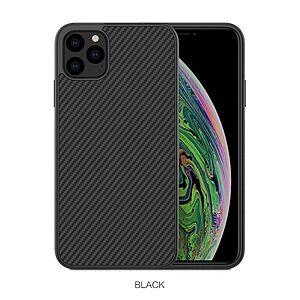 Θήκη iPhone 11 Pro Max NiLLkin Synthetic Fiber Series Πλάτη από σκληρό πλαστικό μαύρο