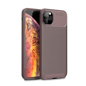Θήκη iPhone 11 Pro Max OEM Airbag Carbon Series Πλάτη TPU καφέ