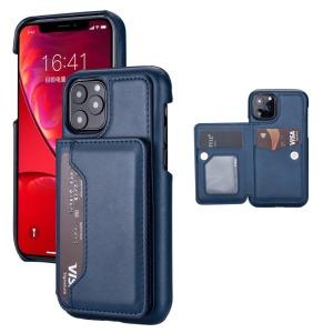 Θήκη iPhone 11 Pro OEM από συνθετικό δέρμα με βάση στήριξης και υποδοχές καρτών / χρημάτων Πλάτη μπλε