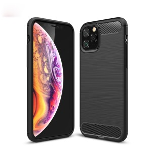 Θήκη iPhone 11 Pro OEM Brushed TPU Carbon Πλάτη μαύρο