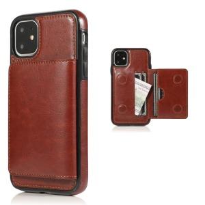 Θήκη iPhone 11 OEM από συνθετικό δέρμα με βάση στήριξης και υποδοχές καρτών / χρημάτων Πλάτη καφέ