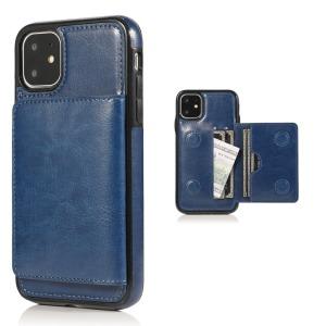 Θήκη iPhone 11 OEM από συνθετικό δέρμα με βάση στήριξης και υποδοχές καρτών / χρημάτων Πλάτη μπλε