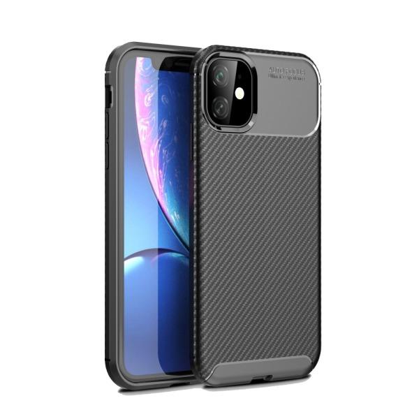 Θήκη iPhone 11 OEM Airbag Carbon Series Πλάτη TPU μαύρο