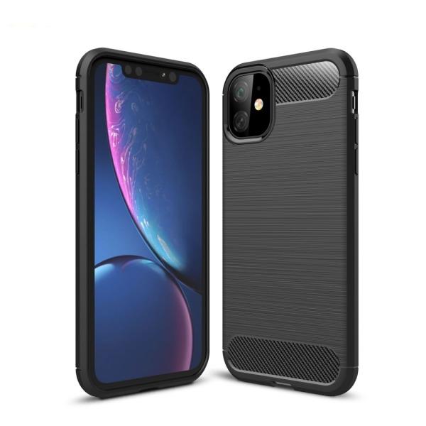 Θήκη iPhone 11 OEM Brushed TPU Carbon Πλάτη μαύρο