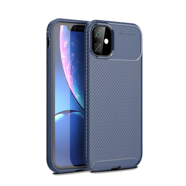 Θήκη iPhone 11 OEM Airbag Carbon Series Πλάτη TPU μπλε