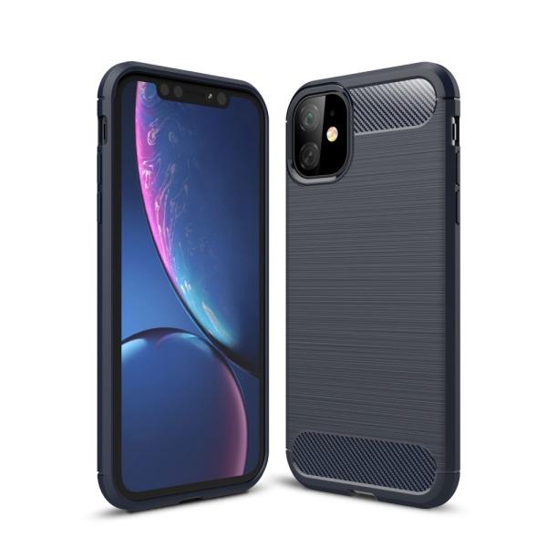 Θήκη iPhone 11 OEM Brushed TPU Carbon Πλάτη μπλε σκούρο