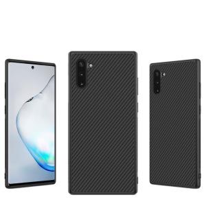Θήκη Samsung Galaxy Note 10 NiLLkin Synthetic Fiber Series πλάτη από σκληρό πλαστικό μαύρο