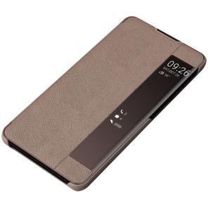 Θήκη Samsung Galaxy Note 10 Plus OEM Half Mirror Surface View Stand Case Cover Flip Window δερματίνη καφέ