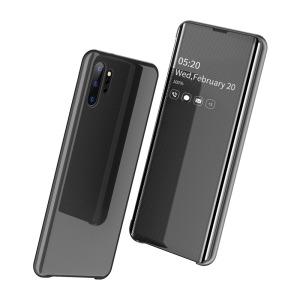 Θήκη Samsung Galaxy Note 10 Plus OEM Mirror Surface View v2 Stand Case Cover Flip Window δερματίνη μαύρο