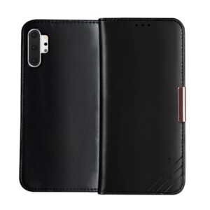 Θήκη Samsung Galaxy Note 10 Plus DZGOGO Royale Series II Genuine Leather Flip Wallet δερμάτινη μαύρο