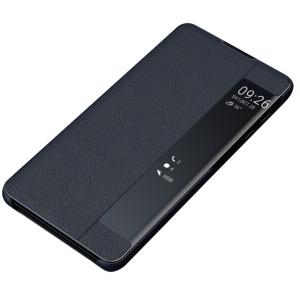 Θήκη Samsung Galaxy Note 10 Plus OEM Half Mirror Surface View Stand Case Cover Flip Window δερματίνη μπλε