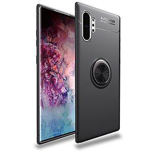 Θήκη Samsung Galaxy Note 10 Plus OEM Magnetic Ring Kickstand / Μαγνητικό δαχτυλίδι / Βάση στήριξης Πλάτη TPU μαύρο