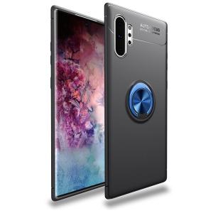 Θήκη Samsung Galaxy Note 10 Plus OEM Magnetic Ring Kickstand / Μαγνητικό δαχτυλίδι / Βάση στήριξης Πλάτη TPU μαύρο / μπλε