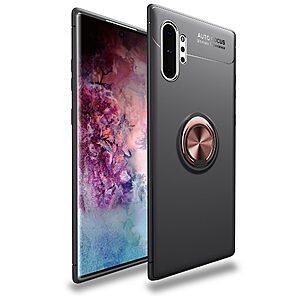 Θήκη Samsung Galaxy Note 10 Plus OEM Magnetic Ring Kickstand / Μαγνητικό δαχτυλίδι / Βάση στήριξης Πλάτη TPU μαύρο / ροζ χρυσό
