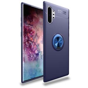 Θήκη Samsung Galaxy Note 10 Plus OEM Magnetic Ring Kickstand / Μαγνητικό δαχτυλίδι / Βάση στήριξης Πλάτη TPU μπλε