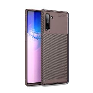 Θήκη Samsung Galaxy Note 10 IPAKY Airbag Carbon Series Πλάτη TPU καφέ