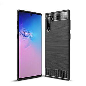 Θήκη Samsung Galaxy Note 10 OEM Brushed TPU Carbon Πλάτη μαύρο