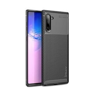 Θήκη Samsung Galaxy Note 10 IPAKY Airbag Carbon Series Πλάτη TPU μαύρο