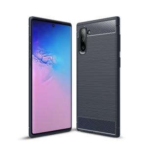 Θήκη Samsung Galaxy Note 10 OEM Brushed TPU Carbon Πλάτη μπλε σκούρο