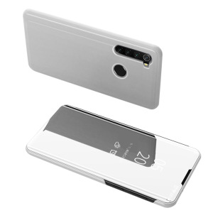 Θήκη Xiaomi Redmi Note 8 OEM Mirror Surface View Stand Case Cover Flip Window δερματίνη ασημί