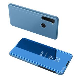 Θήκη Xiaomi Redmi Note 8 OEM Mirror Surface View Stand Case Cover Flip Window δερματίνη γαλάζιο