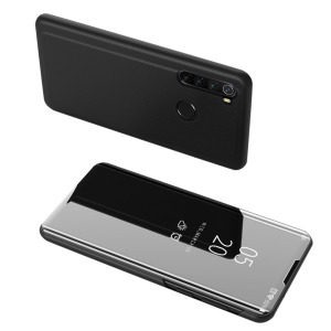 Θήκη Xiaomi Redmi Note 8 OEM Mirror Surface View Stand Case Cover Flip Window δερματίνη μαύρο