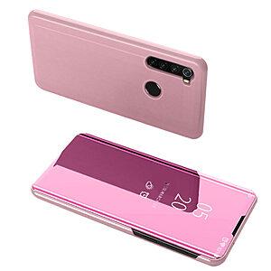 Θήκη Xiaomi Redmi Note 8 OEM Mirror Surface View Stand Case Cover Flip Window δερματίνη ροζ χρυσό