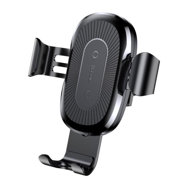 BASEUS Gravity Car Qi Ασύρματος Φορτιστής & βάση αυτοκινήτου για αεραγωγό Wireless - μαύρος