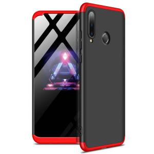 Θήκη GKK Full body Protection 360° από σκληρό πλαστικό για Huawei P30 lite μαύρο / κόκκινο