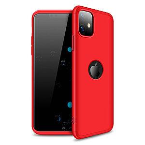 Θήκη GKK Full body Protection 360° από σκληρό πλαστικό για iPhone 11 κόκκινο