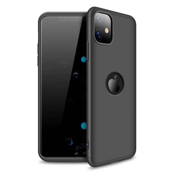 Θήκη GKK Full body Protection 360° από σκληρό πλαστικό για iPhone 11 μαύρο