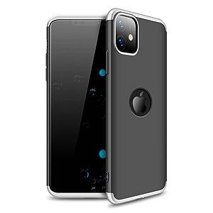 Θήκη GKK Full body Protection 360° από σκληρό πλαστικό για iPhone 11 μαύρο / ασημί