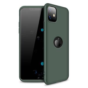 Θήκη GKK Full body Protection 360° από σκληρό πλαστικό για iPhone 11 πράσινο σκούρο