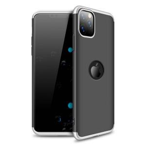 Θήκη GKK Full body Protection 360° από σκληρό πλαστικό για iPhone 11 Pro Max μαύρο / ασημί