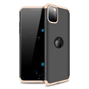 Θήκη GKK Full body Protection 360° από σκληρό πλαστικό για iPhone 11 Pro Max μαύρο / χρυσό