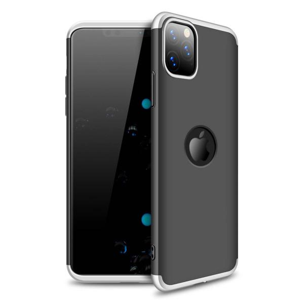 Θήκη GKK Full body Protection 360° από σκληρό πλαστικό για iPhone 11 Pro μαύρο / ασημί