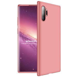 Θήκη GKK Full body Protection 360° από σκληρό πλαστικό για Samsung Galaxy Note 10 Plus ροζ χρυσό