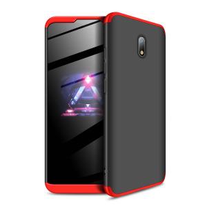 Θήκη GKK Full body Protection 360° από σκληρό πλαστικό για Xiaomi Redmi 8A μαύρο / κόκκινο