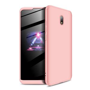 Θήκη GKK Full body Protection 360° από σκληρό πλαστικό για Xiaomi Redmi 8A ροζ χρυσό