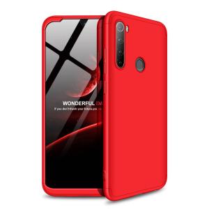 Θήκη GKK Full body Protection 360° από σκληρό πλαστικό για Xiaomi Redmi Note 8 κόκκινο