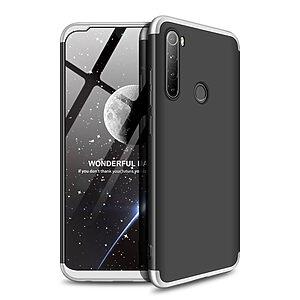 Θήκη GKK Full body Protection 360° από σκληρό πλαστικό για Xiaomi Redmi Note 8 μαύρο / ασημί