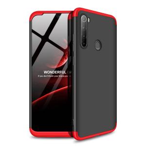 Θήκη GKK Full body Protection 360° από σκληρό πλαστικό για Xiaomi Redmi Note 8 μαύρο / κόκκινο